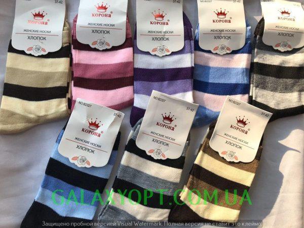 Женские носки Корона полосатые, носки женские 37-42 р.р