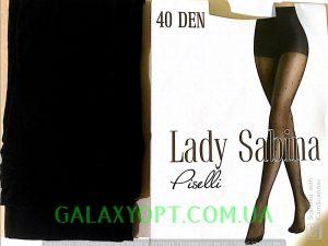 Капроновые колготки в горошек, 40 Den Lady Sabina черные.