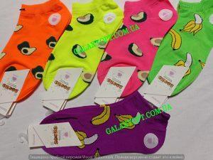 Женские носки c фруктами размер 37-41