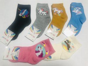 Детские носки с единорогом на 9-12