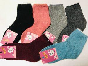 Детские носки ангора на девочку размер 30-35