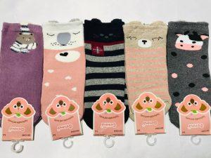 Детские носки на девочку махровые c тормозами 5-6